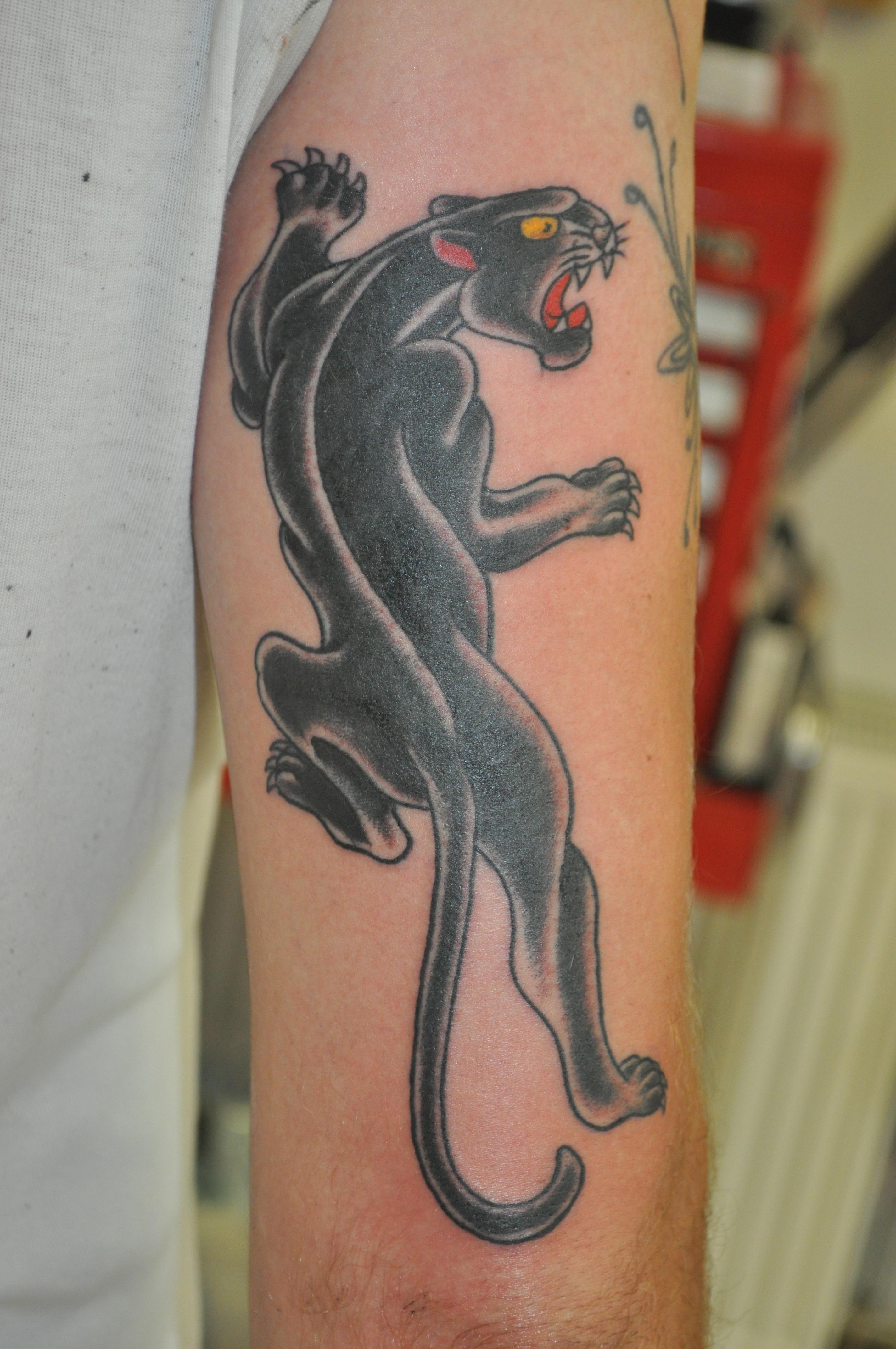 Danny Boy Sawyer, Daniel Sawyer, Rose Tattoo Amsterdam, Traditional tattoo, americana tattoo, anchor tattoo, amsterdam tattoo shop, classic tattoo, traditional, panther tattoo
