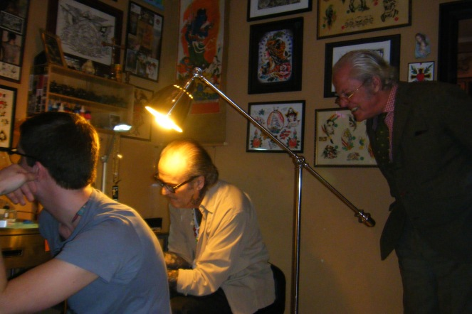 Bill doing a guest spot at Italian Rooster. With G.M. Fercioni.