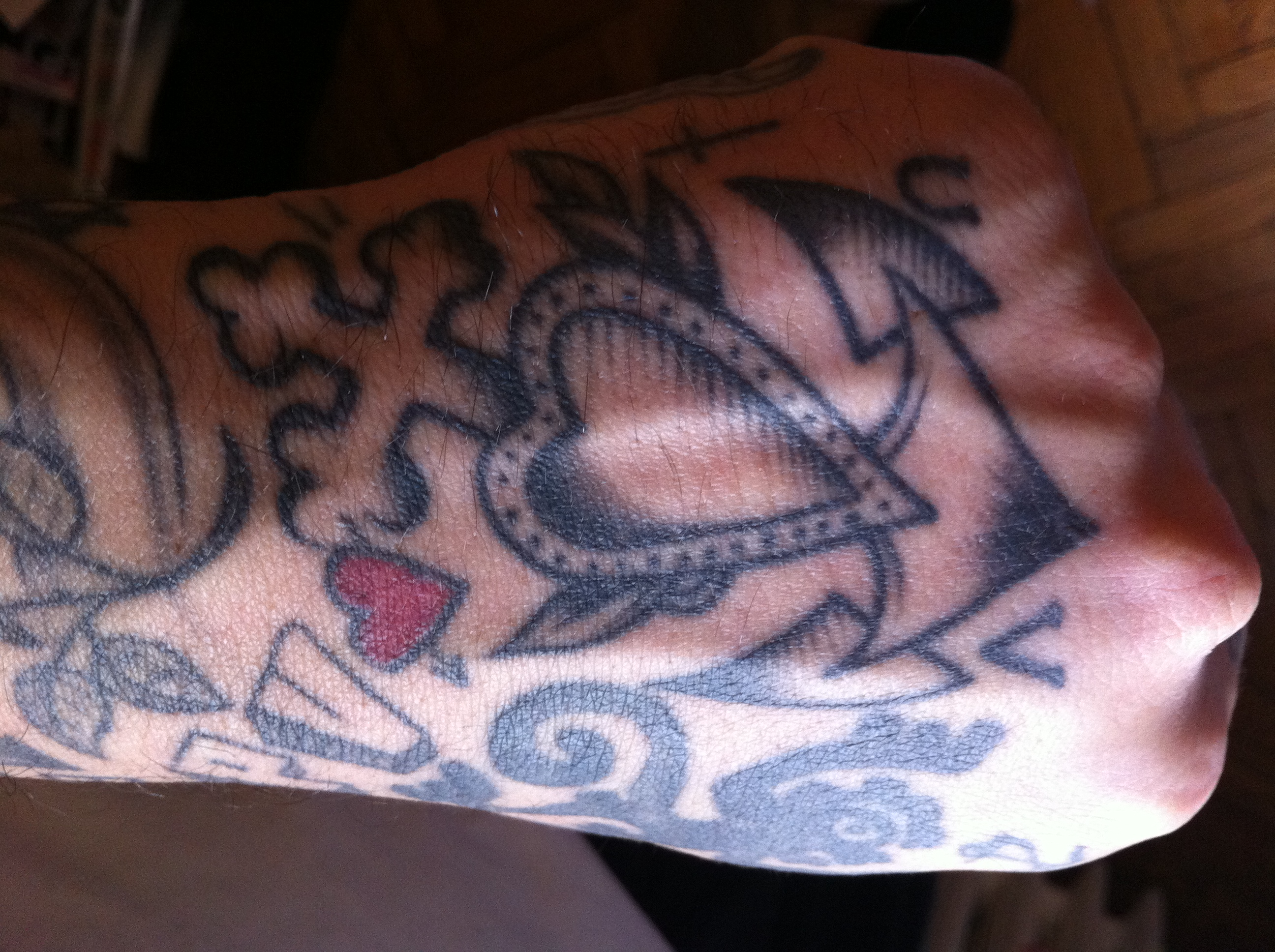 Faith Hope Charity Tattoo Tattoo on my hand by pepe of