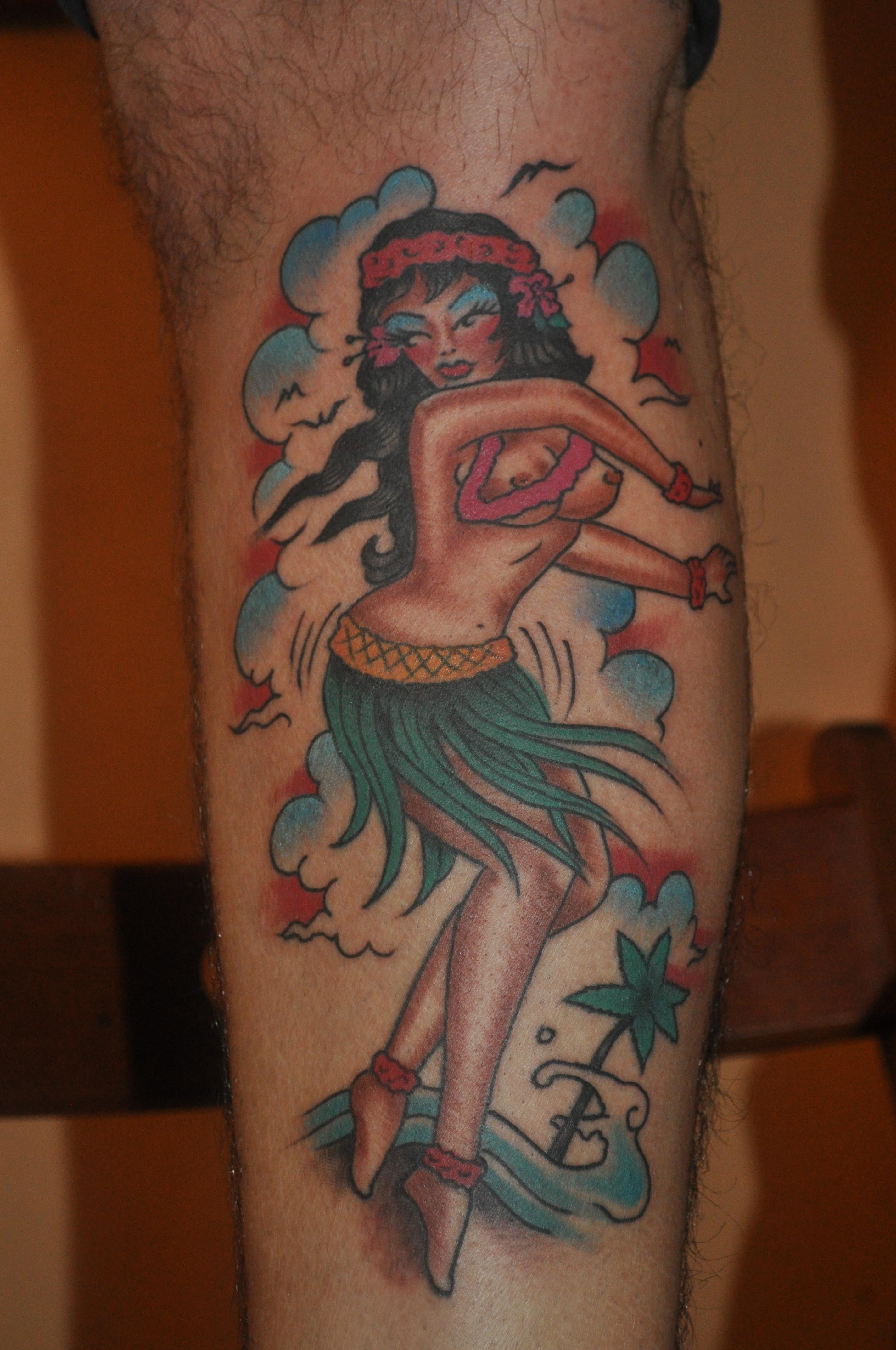 Rose Tattoo Amsterdam, Bill Loika,Traditional American, Old School tattoo, Color tattoo, Traditional Western, Americana, Pin-up tattoo, Amsterdam tattoo shop