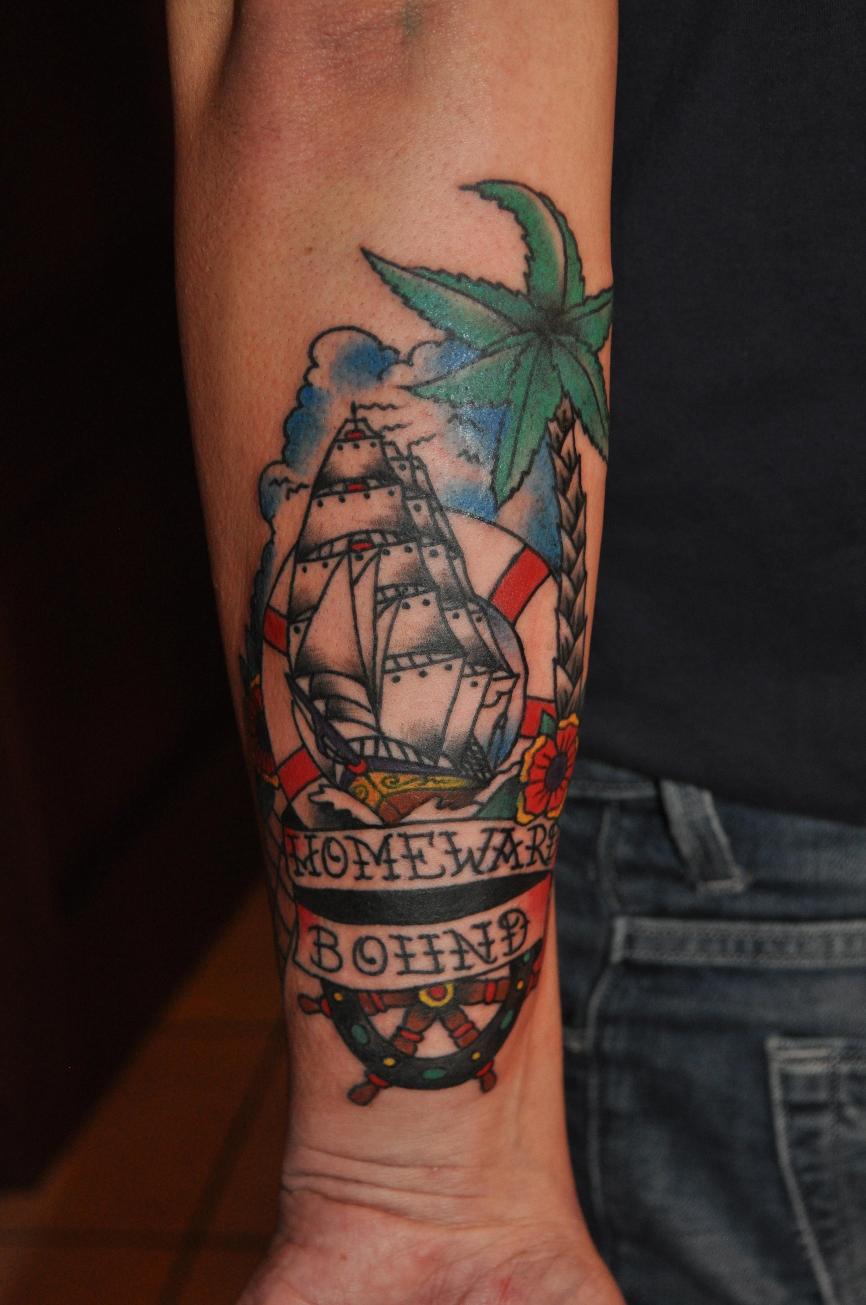Rose Tattoo Amsterdam, Bill Loika, Traditional American, Americana, Old school tattoos, Color tattoos, Traditional Western, Quality tattoos, Amsterdam tattoo shop