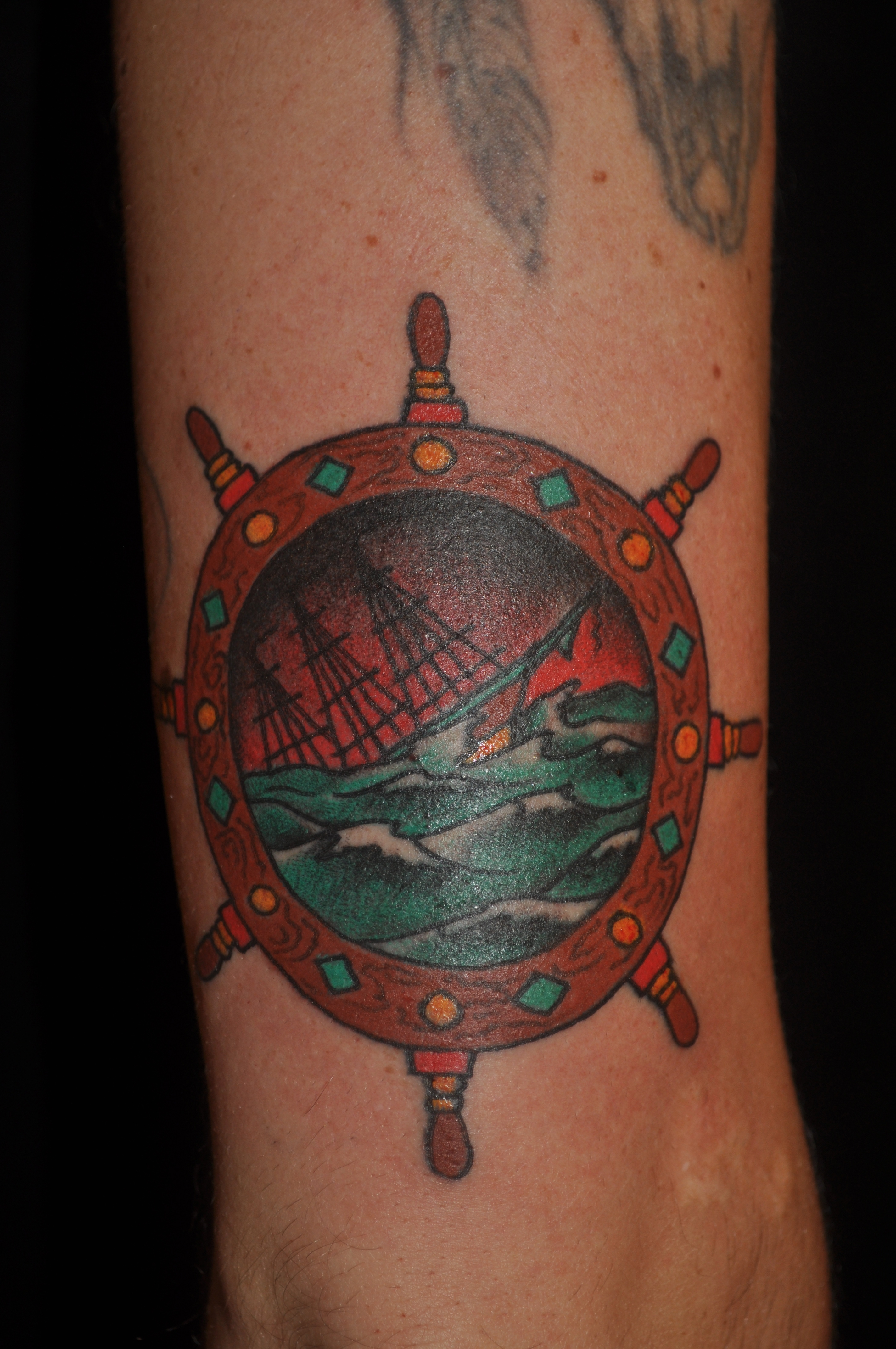 Rose Tattoo Amsterdam, Bill Loika, Traditional American, Tradional Western, Americana, Old school, color tattoos, Amsterdam tattoo shop