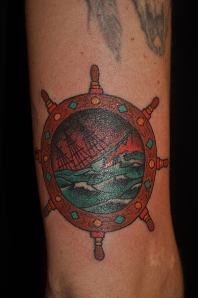 Traditional American, Tradional Western, Americana, Old school, color tattoos, Amsterdam tattoo shop