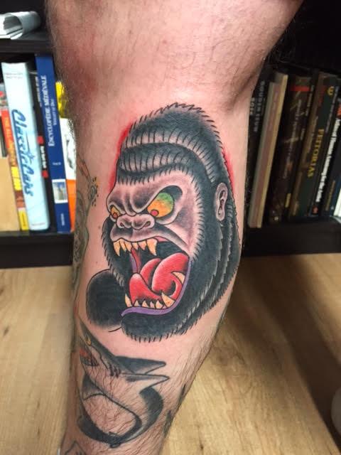 Jur Gillot, Rose tattoo Amsterdam, Traditional American, Traditional Western, Americana, Old school, color tattoos, Amsterdam tattoo shop